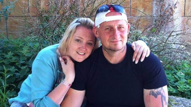 Mark Browne with his wife, Teresa. Photo: Lime Solicitors
