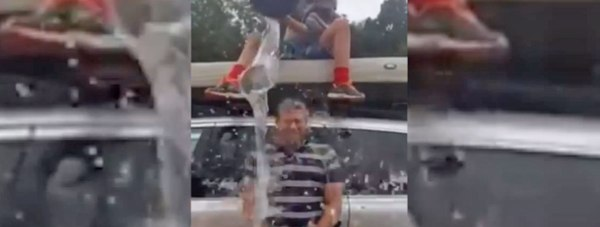 Lincoln MP Karl McCartney doing the Ice Bucket Challenge