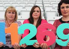 Alzheimer Society representatives Pippa Foster, Sue Button, Laura Hannibal.