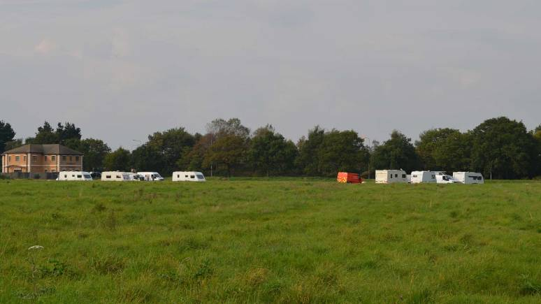 The encampment between Sadler Road and Doddington Road.