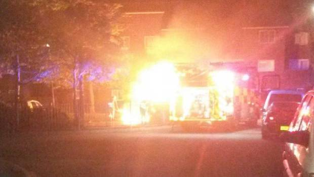 Firefighters extinguished a car set on fire on Halton Close in Birchwood on September 19. Photo: Nikki Cullen