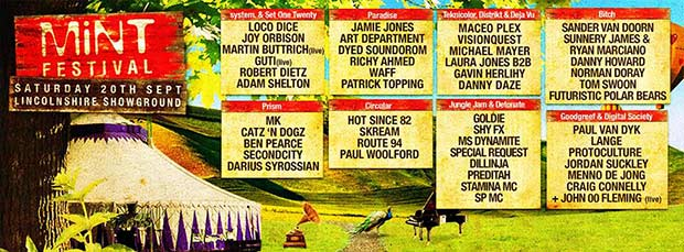 This year's confirmed line up for Mint Festival.