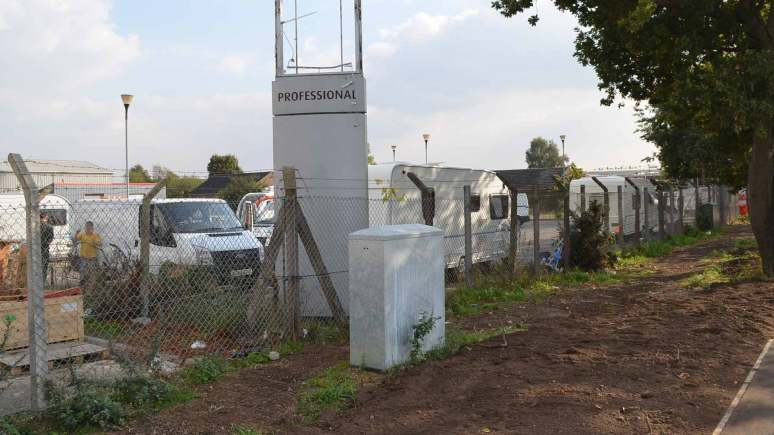 Around six caravans are currently situated at the site off Station Road.