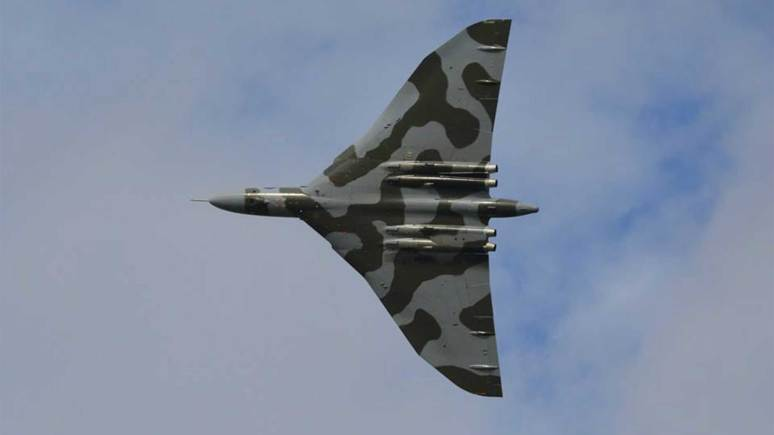 Vulcan over Scampton. Photo: Phil Evans
