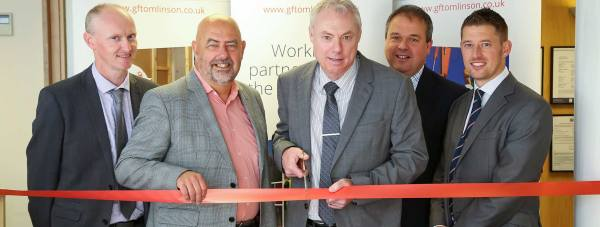 (L to R) construction director at G F Tomlinson Nick Banks, head of empa Alan Coole, managing director at G F Tomlinson Stuart Lawrence, head of business development at G F Tomlinson Les Needham and framework manager at G F Tomlinson Rob Sharman.