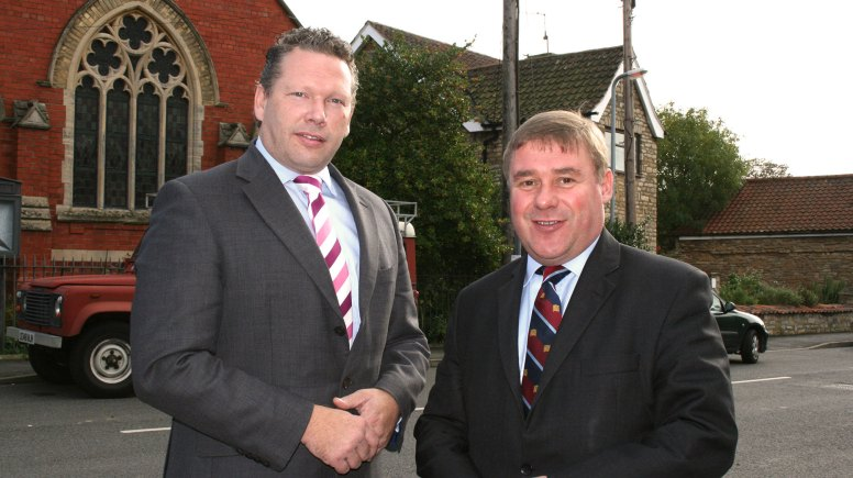 Member of Parliament for Lincoln Karl McCartney with Defence Minister, Rt Hon Mark Francois MP. Photo: The Lincolnite