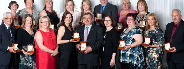 27 members of Lincolnshire Co-op staff received special gold watches for their years of service. Photo: Lincolnshire Co-op