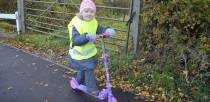 Children from South Hykeham School were able to officially open the new path.