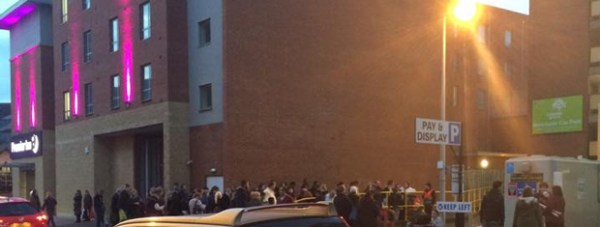 The evacuated area. Photo: Grace Hellowell