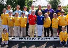 Children at Willow Farm Pony Club.