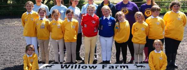 Children at Willow Farm Pony Club.