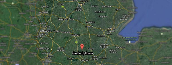 Castle Bytham in Lincolnshire, where the crash happened.