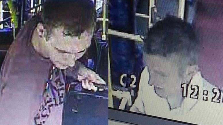 Police are appealing to identify and find the whereabouts of these two men.