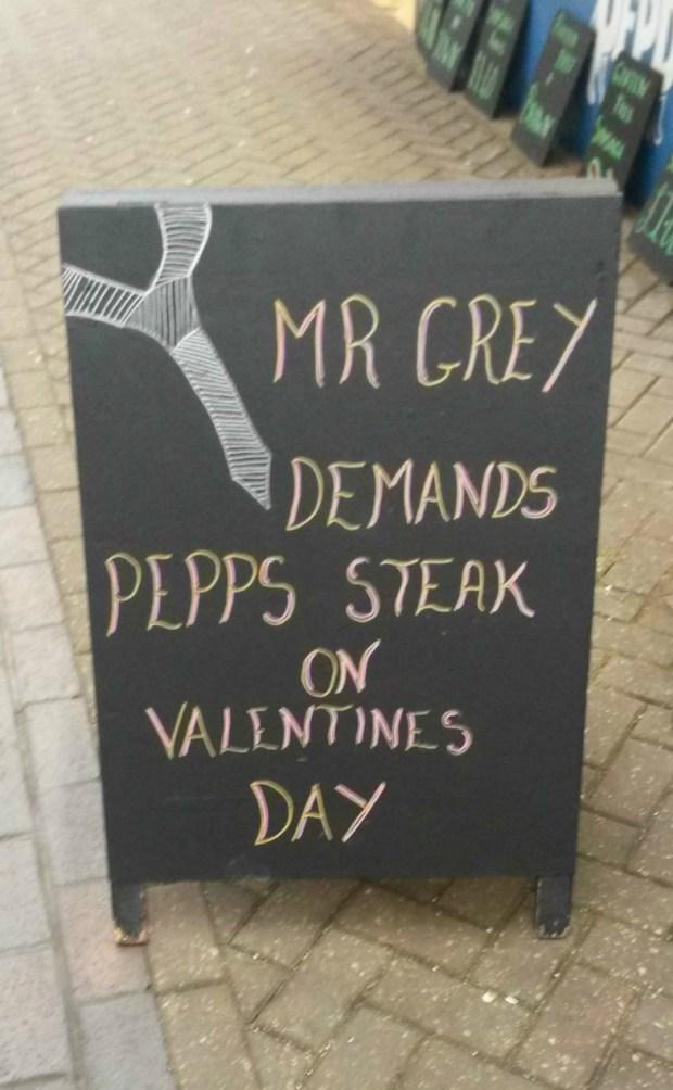 Butcher's advertising.