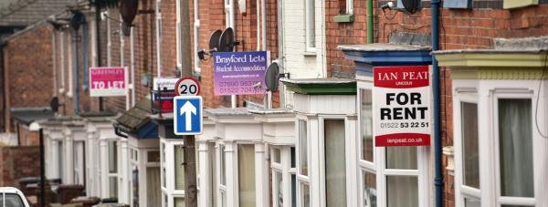 Privately rented student houses in Lincoln. Photo Steve Smailes for The Lincolnite