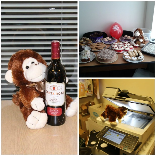 Letting agents Hodgeson Elkington held a raffle with prizes donated by staff and raised £155.50 for Comic Relief! The star of the show was a mischievous monkey.