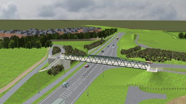 Visuals for the proposed Hawthorn Road Bridge. Image: Lincolnshire County Council