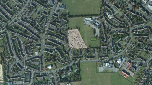 The new housing estate proposed on the Ermine.