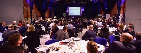 """Speskers at the Lincoln Growth conference said the city is in a """"perfect storm"""" of development. Justin Brown, Commissioner for economic growth at Lincolnshire County Council. Photo: Steve Smailes for The Lincolnite"""