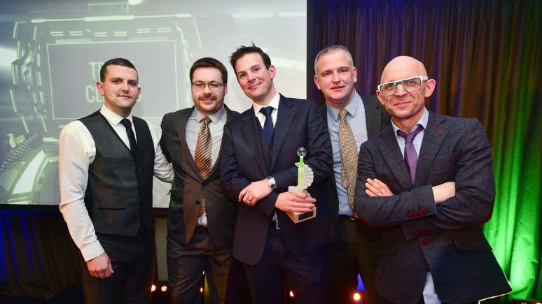 The winners of the Best Digital Startup award Trade Clients. Photo: Steve Smailes for Lincolnshire Business
