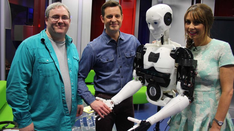 Dr John Murray with presenters Matt Baker and Alex Jones. Photo: The One Show