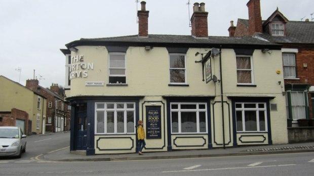 The Burton Arms pub.