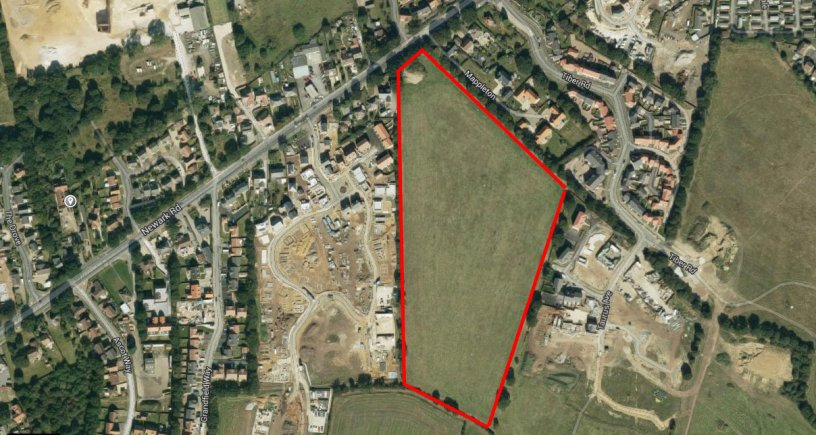 The site where 201 new properties could be built in North Hykeham. Photo Google Maps