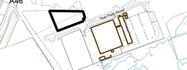 DKDC plans for a £2 million project, bringing 19 new units to Teal Park. (Site outlined in black)