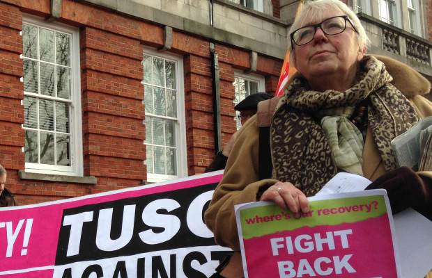 Elaine Smith, spokesperson for Defend Our Fire Services and TUSC parliamentary candidate for Lincoln