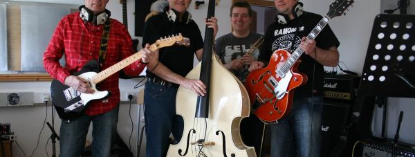 The Lost Property All Stars. L-R: Michael Gadd, Eric Hubbert, Rik Gray and Andrew Cotton