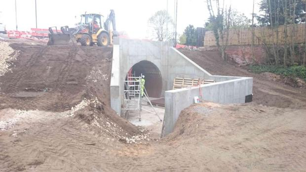 The pedestrian subway is now complete. Photo: LCC