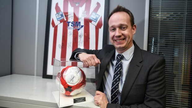 Richard also works closely with organisations such as the Lincoln City Football Club, Lincolnshire Sport, the Amateur Swimming Association and Basketball England, among others. Photo: Steve Smailes for Lincolnshire Business