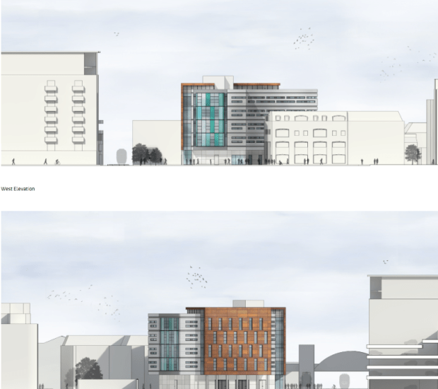 Outline designs for west and east elevation.