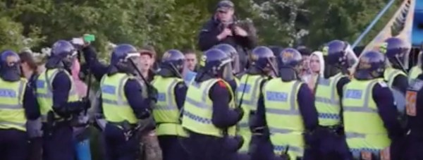 A police operation eventually brought the illegal rave safely to a close on Sunday, May 24. Screenshot: Chris Shaw