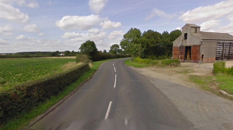 The crash happened on the B1190 near Bucknall. Photo: Google Street View