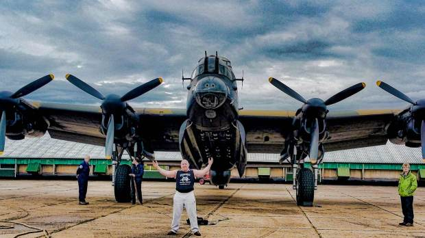 Dave Johnson will pill a Lancaster as part of his next round of charity challenges.