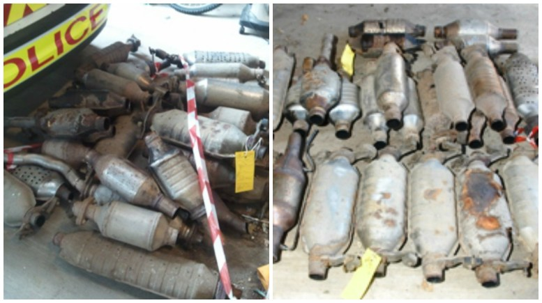 An example of items recovered perviously by police. The most commonly targeted vehicles are Honda Accord V-Type and VTEC variants, registered between 1998 and 2004. Images: Lincolnshire Police