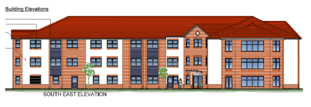 Design proposals for the three storey care home building.