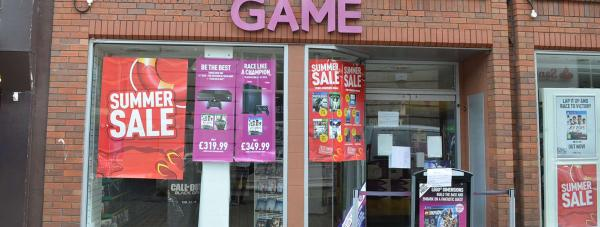 The Game Store on the Cornhill in Lincoln has bee closed after the burglary. Photo: The Lincolnite