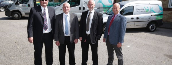 Rick Dring, Managing Director, Ian Smith, Financial Director, and David Burgess, Business Development Director in Specialist and Acquisition Finance at the Clydesdale Bank's Business and Private Banking Centre in Lincoln and Paul Rushby, Sales Director