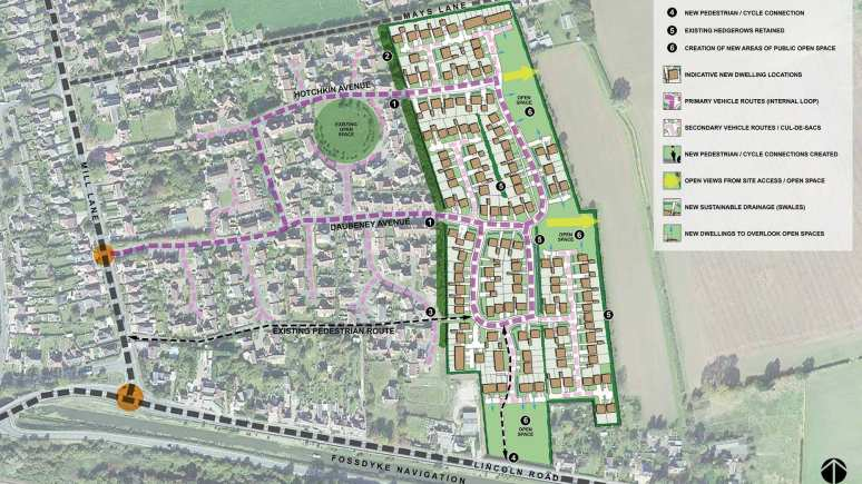 The proposed development of 170 homes in Saxilby which has been scrapped. Photo: Taylor Wimpey/Sten Architecture