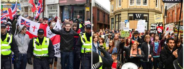 Two protests are taking place in Lincoln on July 25 - the EDL's anti-Islam protest and an anti-racism demo