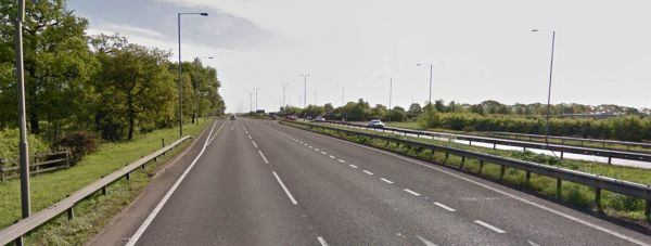 The crash happened on the A46 at Swinderby near Lincoln.