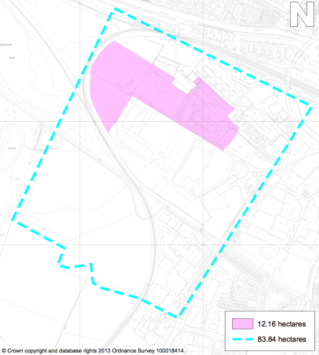 Lincolnshire Science and Innovation Park Masterplan site map.