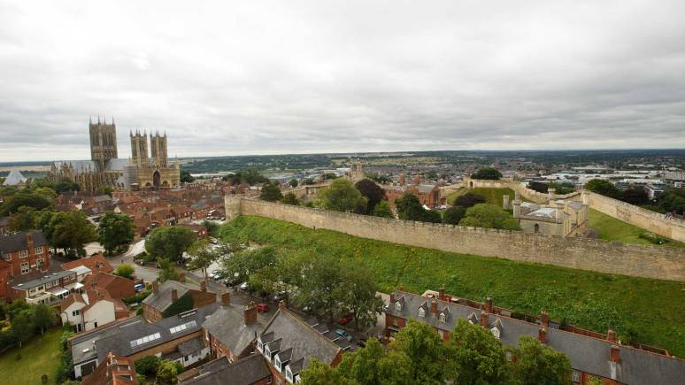 The View from the top of the water tower. Photo: Steve Smailes for The Lincolnite