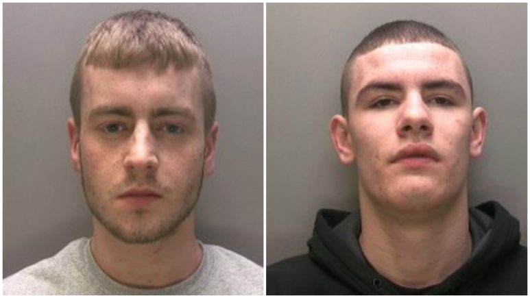 Daniel Westhead (left) and Jordan Sutherland (right) were sentenced at Lincoln Crown Court