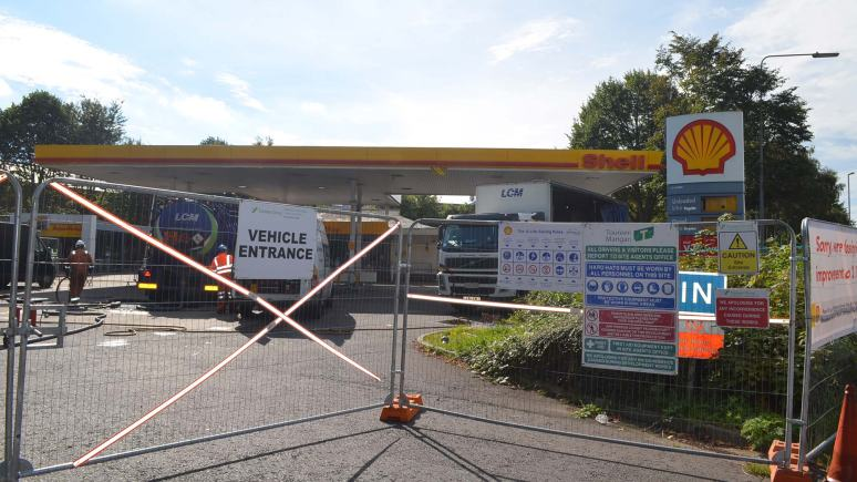 Burton Road Shell petrol station is closed for maintenance