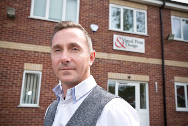 Graham Hunstone, Managing Director of Visual Print & Design