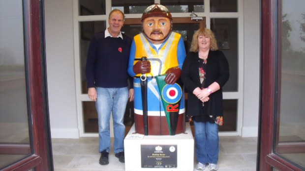 Nigel Spurr and his wife Gail with the Bomber Baron