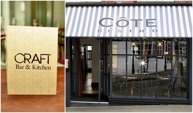 An example of the Côte restaurant chain, which will take overt the unite formerly Craft bar.